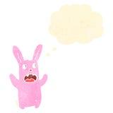 Cartoon spooky pink bunny rabbit Royalty Free Stock Image