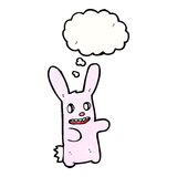 Cartoon spooky pink rabbit with thought bubble Stock Photo