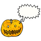 Cartoon spooky pumpkin Royalty Free Stock Photography
