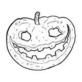 Cartoon spooky pumpkin Stock Photography