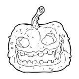 Cartoon spooky pumpkin Stock Image