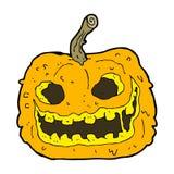 Cartoon spooky pumpkin Royalty Free Stock Photo