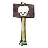 Cartoon spooky sign post Royalty Free Stock Photos