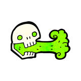 Cartoon spooky skull Royalty Free Stock Images