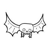 Cartoon spooky skull bat Royalty Free Stock Images