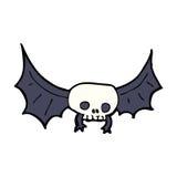 Cartoon spooky skull bat Stock Photo