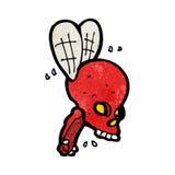 Cartoon spooky skull fly Royalty Free Stock Photos