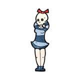 cartoon spooky skull head girl Stock Photo