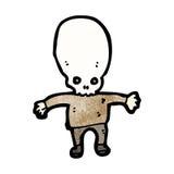 cartoon spooky skull head man Royalty Free Stock Photos