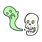 Cartoon spooky skull Royalty Free Stock Image