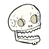 Cartoon spooky skull Stock Images
