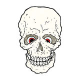 Cartoon spooky skull Royalty Free Stock Photography