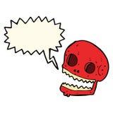Cartoon spooky skull with speech bubble Royalty Free Stock Photos