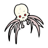 Cartoon spooky skull spider Royalty Free Stock Photos