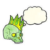 Cartoon spooky skull with thought bubble Stock Photo