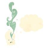 Cartoon spooky smoking skull Stock Photo