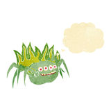 cartoon spooky spider with thought bubble Stock Images