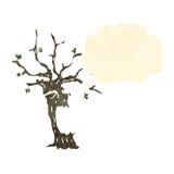 Cartoon spooky tree Royalty Free Stock Images