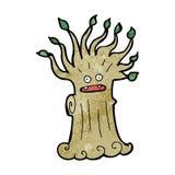 Cartoon spooky tree Royalty Free Stock Photos