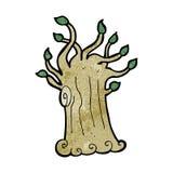 Cartoon spooky tree Royalty Free Stock Image