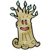 Cartoon spooky tree Stock Photos