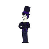Cartoon spooky vampire Royalty Free Stock Photo