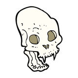 Cartoon spooky vampire skull Royalty Free Stock Photos