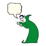 Cartoon spooky vampire with speech bubble Royalty Free Stock Photography