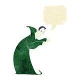 Cartoon spooky vampire with speech bubble Stock Photography