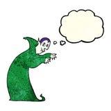 Cartoon spooky vampire with thought bubble Stock Photo