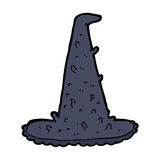 Cartoon spooky witch hat Royalty Free Stock Image