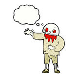 Cartoon spooky zombie with thought bubble Stock Photo