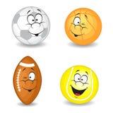 Cartoon sport balls. On white background Stock Image