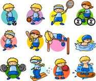 Cartoon sport icon,vector Royalty Free Stock Photography