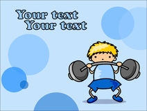 Cartoon sport icon,vector Stock Image