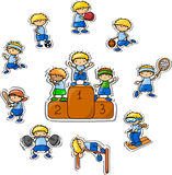 Cartoon sport icon,vector Royalty Free Stock Photo