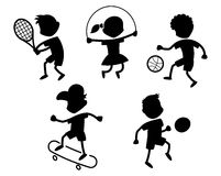 Cartoon sport icons Stock Photo