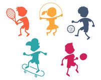Cartoon sport icons Stock Photos