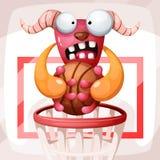 Cartoon sport illustration. Monster characters. Vector eps 10 vector illustration
