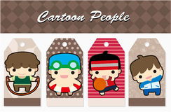 Cartoon sport people card Stock Image