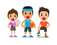 Cartoon sport people Royalty Free Stock Photos