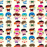 Cartoon sport player seamless pattern Royalty Free Stock Image