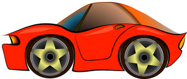 Cartoon sportcar Stock Photography