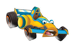 Cartoon sports car racing Royalty Free Stock Image