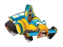 Cartoon sports car racing Stock Images