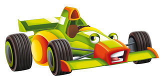 Cartoon sports car racing Stock Image