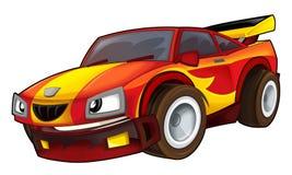 Cartoon sports car racing Stock Photography