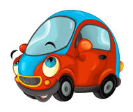 Cartoon sports car smiling and looking Stock Photography