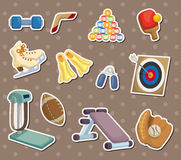 Cartoon Sports Equipment stickers Royalty Free Stock Photos