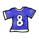 Cartoon sports shirt with number eight Stock Image